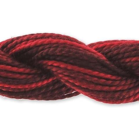 Cotone perlè DMC n°5 gradazione Rosso scuro (115) x25m