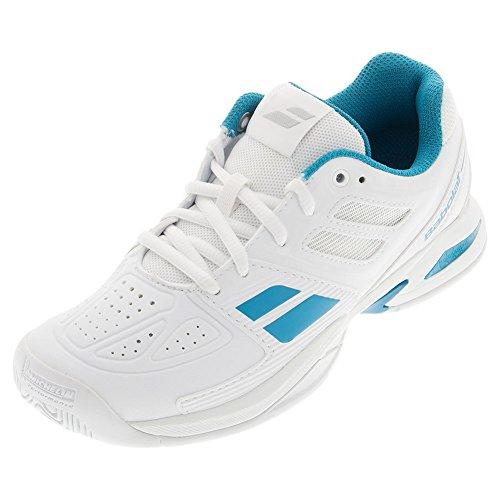 Babolat , Chaussures de tennis pour garçon Blanc/Bleu