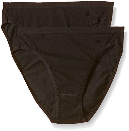 Slip Stretch-unterhemd (Triumph Damen Slip Cotton Basics Mod Tai 2P, Gr. 46, Schwarz (BLACK 04))