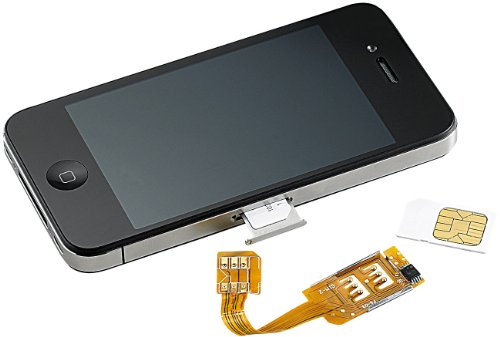 Callstel iPhone Dualsim: Dual-SIM-Adapter iPhone 4/4s mit Slot für zweite SIM-Karte (Apple Dual-SIM Adapter) - Mit Iphone Sim-karten-slot 4s