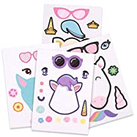 Howaf 24 Sheets Make a Unicorn Stickers For Kids, Unicorn Birthday Party Favors Supplies, Fun Craft Project for Children, Unicorn Birthday Gift For Kids Party Bag Fillers, Goodie Bag, Pinata, Prize