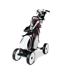EasyPal 4-Wheel - Auto Power-Folding Golf Trolley -White-EU-Version