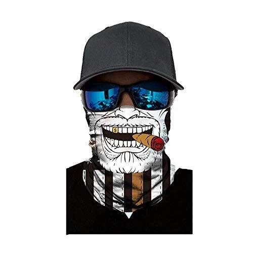 ld Sturmhaube ,viele verschiedene Designs* Multiunktionstuch Maske Fishing Totenkopf Schal Skull Bandana Gesichtsmaske Halstuch Ski Motorrad Paintball Face Shields Maske (G) ()