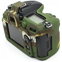 Junipa, custodia protettiva professionale in silicone per fotocamera digitale reflex Nikon D7100D7200,nera