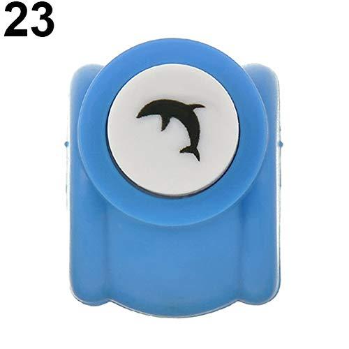 Amesii Mini Scrapbook Punches Spielzeug Handgemachte Cutter Druck DIY Papier Locher für Kinder #23 Dolphin Dolphin Papier