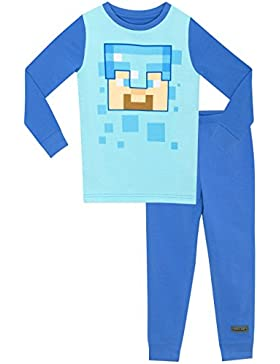 Minecraft - Pijama para Niños - Minecraft Steve - Ajuste Ceñido