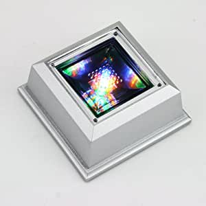 UUMART Unique Square Crystal Display Base Stand 4 LED Light