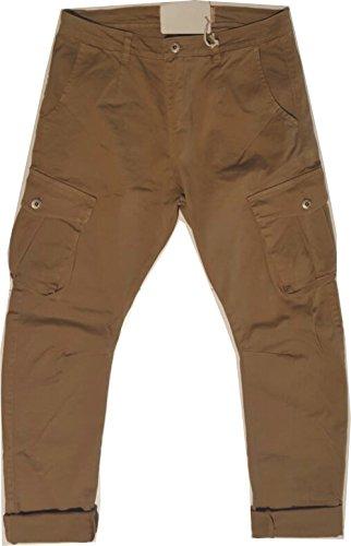 Pantalone Uomo con tasche su gamba (42, beige)