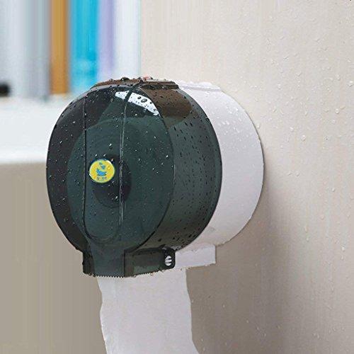 LQB Toilettenpapier Rack Tissue Handtuch Free Punch Toilet Toilettenpapier-Tuch-Sucker-Toilettenpapier-Kasten Toilettenpapier-Kasten-Rahmen-Wasserdichter Rollenpapier-Halter