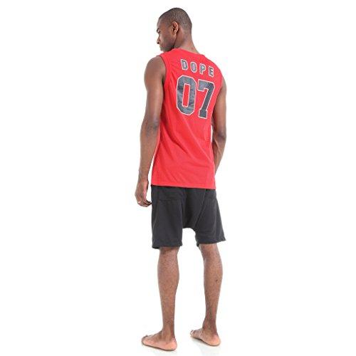 Pizoff Herren Hip Hop High Street Fashion Lang geschnittenes Trägershirt P3270-Red
