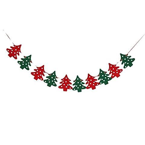 10 Stück Weihnachten Weihnachtsbaum Girlande Banner Bunting Partei