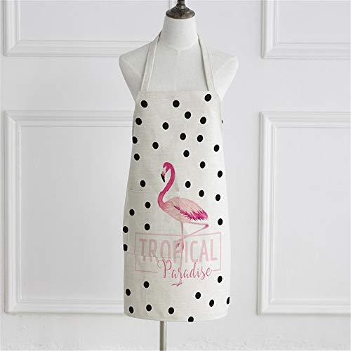 YXDZ Flamingo Sleeveless American Fabric Backen Kochen Männer Und Frauen Taille Kleider Flamingo - Machen Sie Muskel Mann Kostüm