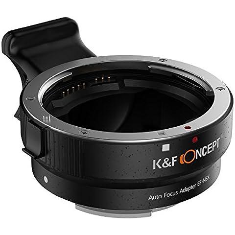 K&F Concept® Enfoque Automático EF-NEX, Adaptador Electrónico Adaptador de Montura de Lente para Lens Adapter Canon EF/ EF-S a Cámara Sony E Mount NEX 3/3N/5N/5R/7/A7