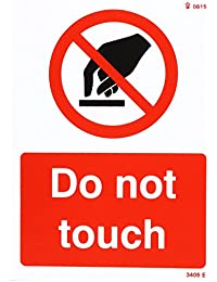 Caledonia signos 23405e do not Touch Sign, vinilo autoadhesivo, 200mm x 150mm