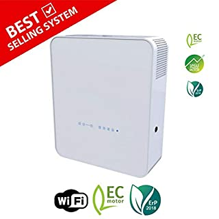 Blauberg UK Freshbox Single Room Heat Recovery Ventilation Wall Fan Unit Supply & Extract Air - WiFi & Post Heater