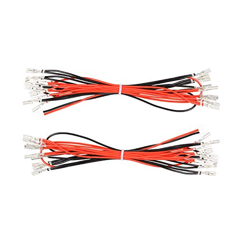 Avisiri 2 x Arcade-Knöpfe LED Kabel 2,8 mm Interface Harness Daisy Chain Wires for Arcade Video Games Zubehör Video-harness