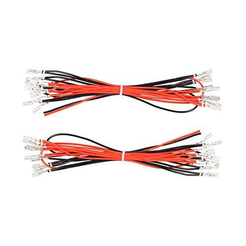 Avisiri 2 x Arcade-Knöpfe LED Kabel 2,8 mm Interface Harness Daisy Chain Wires for Arcade Video Games Zubehör Interface Harness