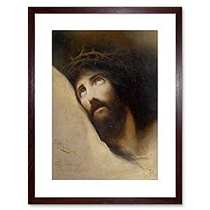 Wee F97X12086 - Cuadro Enmarcado, diseño de Jesús con Texto en inglés Wilhelm DIEFENBACH Vater