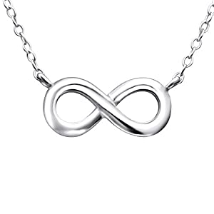 Laimons Ladies' Necklace infinity symbol glossy 925 Sterling silver