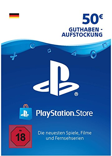 PSN Card-Aufstockung | 50 EUR | PS4, PS3, PS Vita Playstation Network Download Code - deutsches Konto