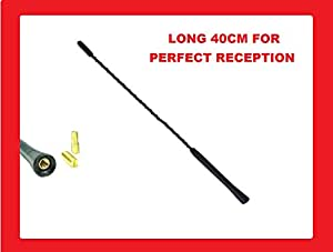 XtremeAuto® MAST.863 AM/FM Aerial Mast Antenna Roof Screw, Sticker Included, Black
