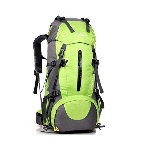 Lanspo 50L Outdoor wasserdichte Rucksack Falten Schulter Handtasche Strand Reise Gepäck Taschen Große Kapazität Camping Bag Wandern Rucksack Grün