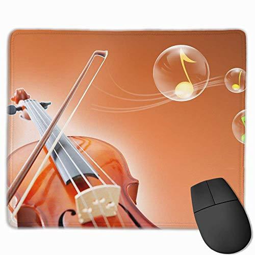 Mouse Pad Rectangle Rubber Non-Slip Mousepad Violin Bubbles Print Gaming Mouse Pad - Floral Print Bubble