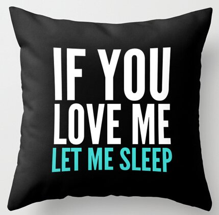 UK-Jewelry If You Love Me Let Me Sleep Black Funny Square Zippered Throw Pillowcase Pillow (Miller Cuscino Decorativo)