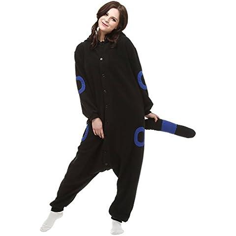 MissFox Kigurumi Pijamas Unisexo Adulto Traje Disfraz de Halloween Animal Pyjamas - Azul Luna Duende,