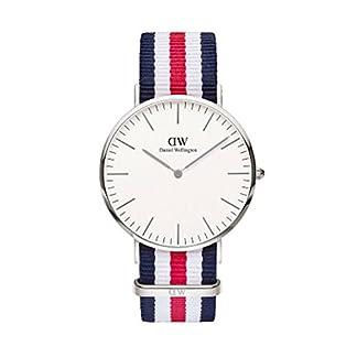 DANIEL WELLINGTON – Reloj de los hombres de 40 mm, DANIEL WELLINGTON CANTERBURY PLATA DW00100016
