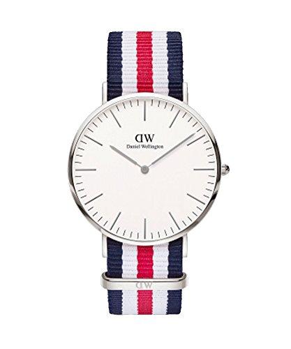 DANIEL WELLINGTON – Reloj de los Hombres de 40 mm, Canterbury Plata