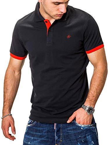 JACK & JONES Herren Poloshirt Polohemd Kurzarmshirt (XXL, Tap Shoe/Red) - Xxl Jack