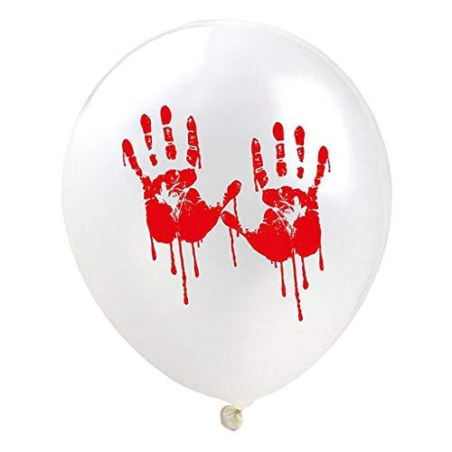 SM SunniMix 10x Schrecklcihes Halloween Ballon Set, Größe: 12 Zoll - Handabdruck