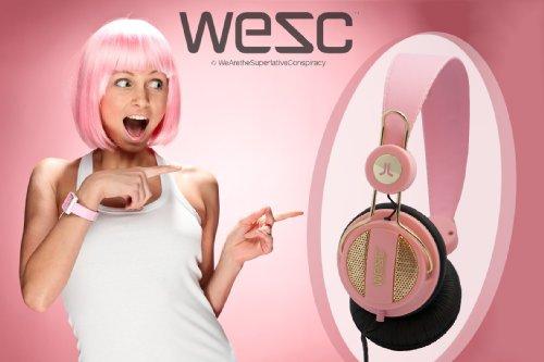 WESC Oboe Golden Headphones Pink