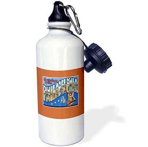 e aus Philadelphia Pennsylvania mit Liberty Bell Lustige Trinkflasche für Kinder, Edelstahl, isoliert, Reisebecher, 535 ml ()