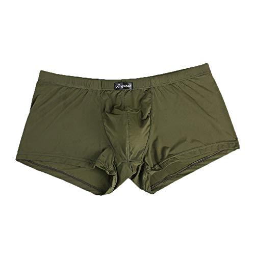 JUTOO Männer Boxershorts Sexy Unterwäsche Brief Printed Boxershorts Shorts Unterhosen (Armee ()