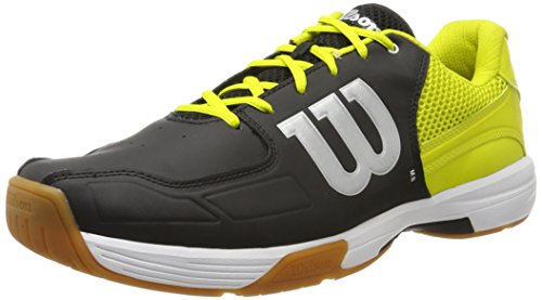 Wilson Unisex Badmintonschuhe Recon, Schwarz (Black/sulphur Spring/white), 39 EU
