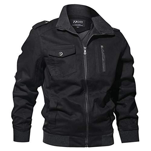 Männer Kurzmantel Herren Langarm Outwear Fashion Herbst Winter Military Kleidung Reißverschluss Patchwork Tasche Taktische atmungsaktive Mantel Moonuy
