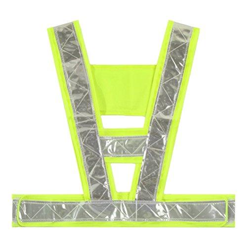 Tinksky Chaleco de seguridad reflectante ajustable de alta visibilidad para trabajadores de saneamiento de la construcción de tránsito Correr de ciclismo durante la noche