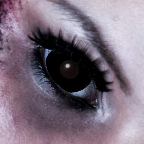 King of Halloween MINI SCLERA Schwarz Kontaktlinse ohne Sehstärke 1 Paar Zombie Vampir Cosplay Fastnacht Zombie Schminke (Filmhelden Kostüm)