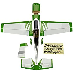 Graupner HoTTrigger 1500 Electric engine - Aviones RC (Biplane, Ready-to-Run (RTR), Verde, Color blanco, Electric engine)