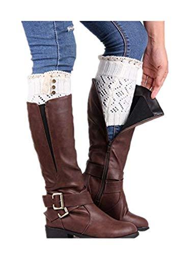 TEBAISE Damen Stulpen Socken - Winter Kurze Stricken Stulpen Gestrickte Beinwärmer Leg Warmers Socken Stiefel Boot Abdeckung - Blonde Abdeckung