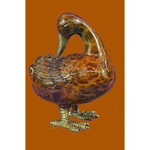 Escultura bronce estatua...Envío gratis...Mogniez francesa Viena Brass pie de pato en frío pintado Bird Bergman(56692NA-UK)Estatuas estatuilla estatuillas desnuda Oficina y Decoración del hogar