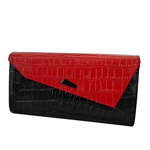 cuoio femminile borse nuove donne europee e americane borsa femminile spalla del modello del coccodrillo piccola borsa diagonale ( Colore : Rosso ) Rosso