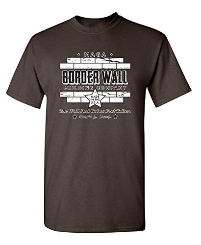 RUAN HOME Border Wall Construction Company Sarcasm Novelty Political Graphic Funny T Shirt by