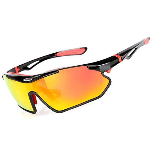 Daesar Nachtfahrbrille für Brillenträger Schutzbrille zum Schießen Schwarz Motorrad Brille Polarisiert