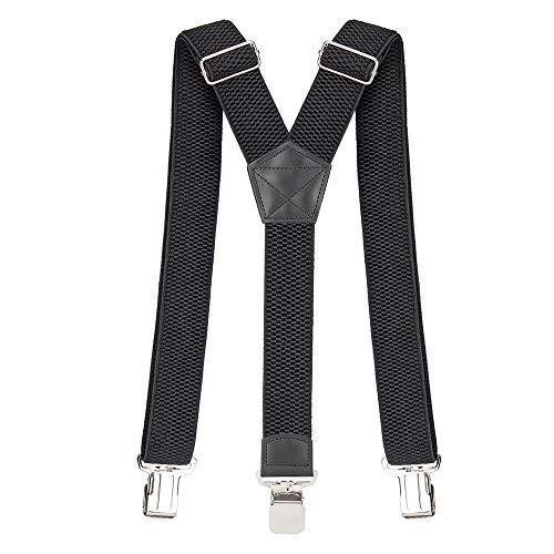 Bretelle da uomo pejoye regolabile parentesi graffe posteriori con 3 robuste clip metalliche 4 cm di larghezza robusto bretelle elastiche per pantaloni taglia unica