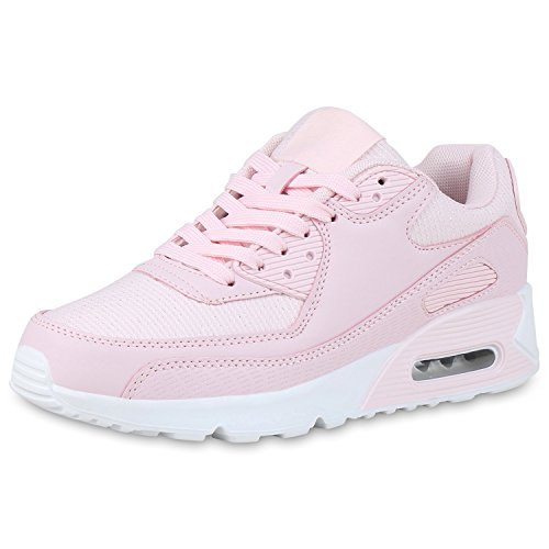 795d5c3120 SCARPE VITA Damen Sportschuhe Profil Sohle Laufschuhe Leder-Optik Sneaker  165754 Rosa Glitzer 39