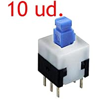 10x Mini interruptor ON-OFF 8 x 8 mm - Self-Lock ON/OFF lock Push Switch PCB