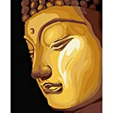 DAMENGXIANG DIY Hand Gemalt Digitale Ölbild Buddha Statue Malerei Moderne Abstrakte Kunst Bilder Für Wohnzimmer Home Decor 40 × 50 cm Ohne Rahmen